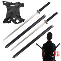 Free Shipping Martial Arts Supply Ninja Twin 27 Katana Sword Set With Scabbards And Back Strap
