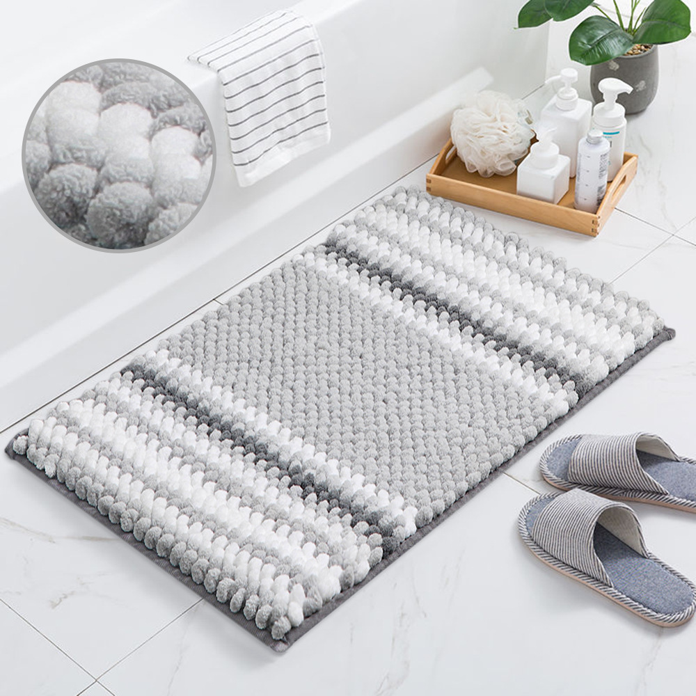 Carpet Home Doormat Thickening Circle Down Kitchen Shower Room Non-slip Stripe Uptake Water Footpad Cheney Land Pad floor mat
