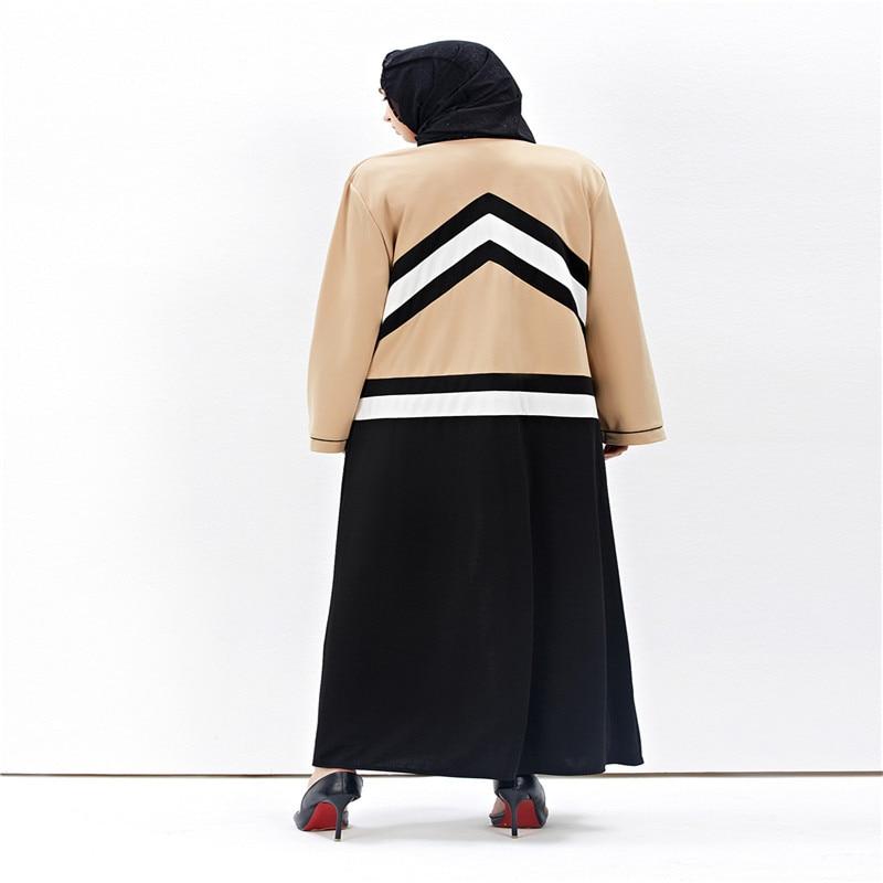 2017 New Fashion Muslim Voksen Cardigan Robe Jilbab Abaya Islamic - Nasjonale klær - Bilde 3