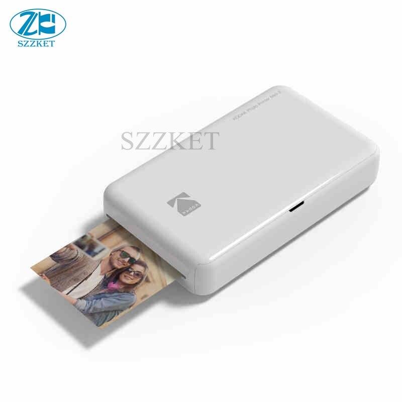 Bilgisayar ve Ofis'ten Yazıcılar'de Bluetooth bağlantısı Süblimasyon Cep telefonu renkli fotoğraf yazıcı Cep mini taşınabilir fotoğraf yazıcı 3 inç fotoğraf Kodak title=