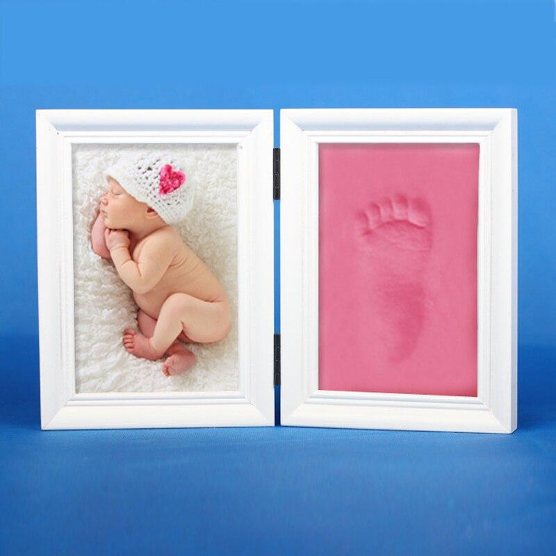 Bebé foto Marcos footprint handprint huella fundido regalo imagen ...