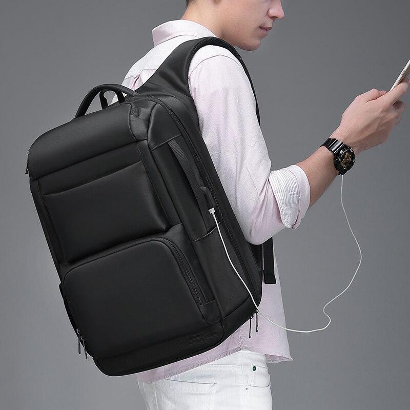 EURCOOL voyage sac à dos hommes multifonction grande capacité mâle Mochila avec Port de charge USB 17.3 pouces ordinateur portable école sacs à dos - 2