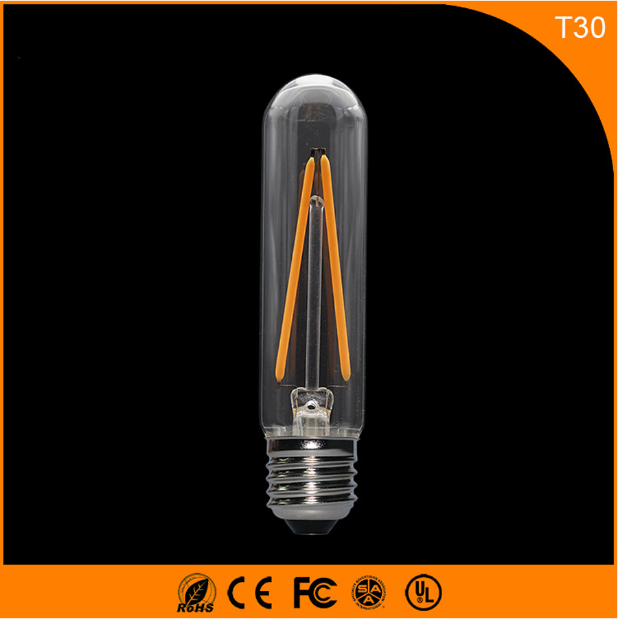 50PCS 2W E27 B22 Led Bulb, T30 LED COB Vintage Edison Light ,Filament Light Retro Bulb AC 220V запонка arcadio rossi запонки со смолой 2 b 1026 20 e