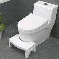 Qualified Squatty Bathroom Thicken Folding Toilet Stool Step Footstool Piles Relief Aid Safety Folding Stool for All Ages