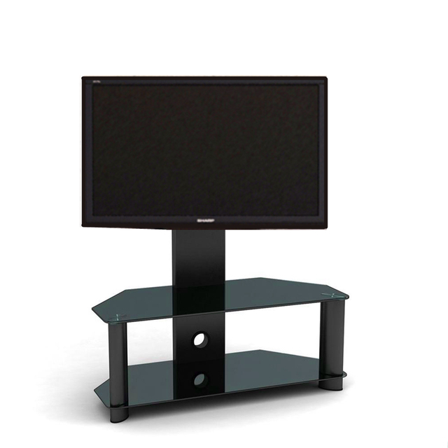 cantilever tv de cristal de pie con soporte para lcd plasma tv sala de estar muebles