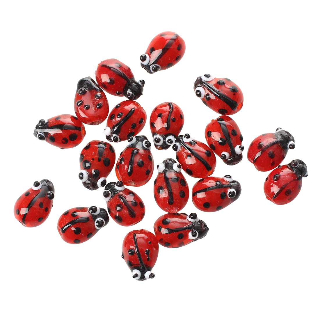 6 X RED LADYBIRD ENAMEL COATED CHARMS//PENDANTS GREAT FOR JEWELLERY MAKING