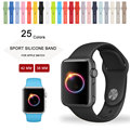 Colorful silicone wrist band para apple watch esportes cinta fivela pulseira 42mm 38mm com adaptador do conector