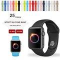 Colorida pulsera de silicona para apple watch correa deportes pulsera hebilla 42mm 38mm con adaptador de conector