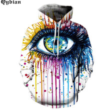 Men Painted eye prints motorcycle sweatshirt Male Moto Hoodie