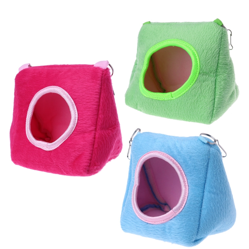 Cute Hamster Hanging House Hammock Cage Sleeping Nest Pet Bed Rat Hamster Toys Warm Comfortable