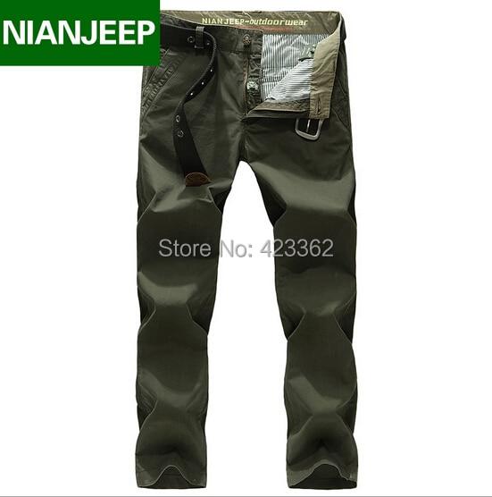 Плюс размер 42 Оригинальный Бренд Мужской брюки-Карго 2016 Осень 100% хлопок свободные военные случайные длинные брюки Армии мужские бегунов