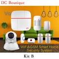 (1 conjunto Kit B) Vcare WIFI GSM Dual-rede do sistema de Alarme Inteligente IOS & Andorid APPS Camera Home Security PIR Alarme de Porta aberta