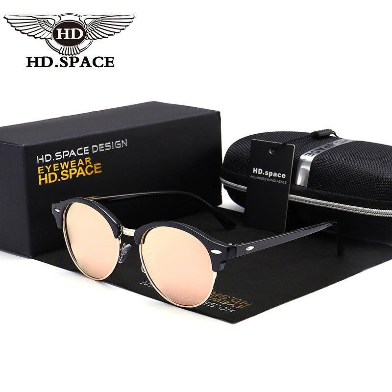 HD Hot Trend Women Polarized Sunglasses Brand Designer Round Alloy Polariscope Classic Mirror Coating Eyewear UV400 Gafas LM032