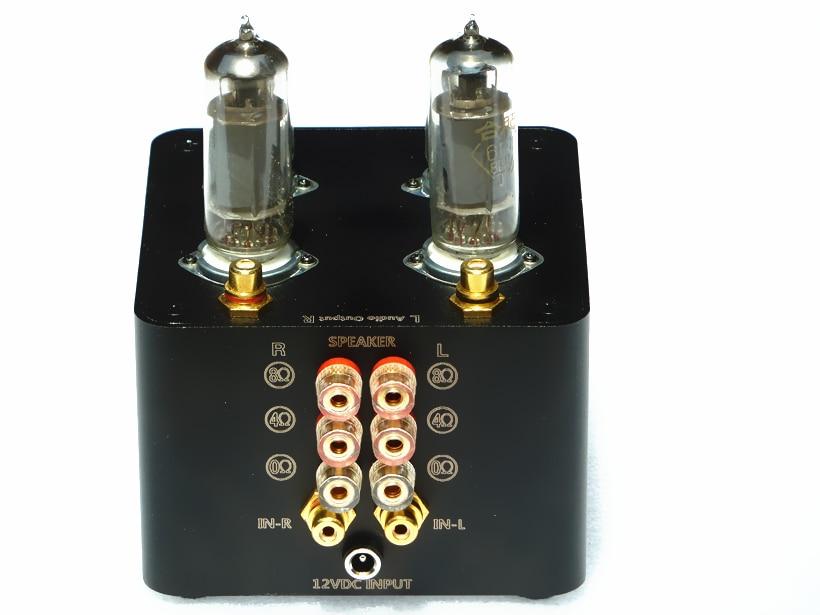 TIANCOOLKEI 6J1-6P1 6j1 Preamplifier Sound sweet Vacuum tube amplifier, 3-inch Full frequency speakers amplifier