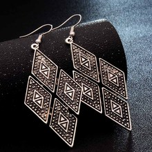 Leaf Feather Dangle Earrings For Women Bohemia Style