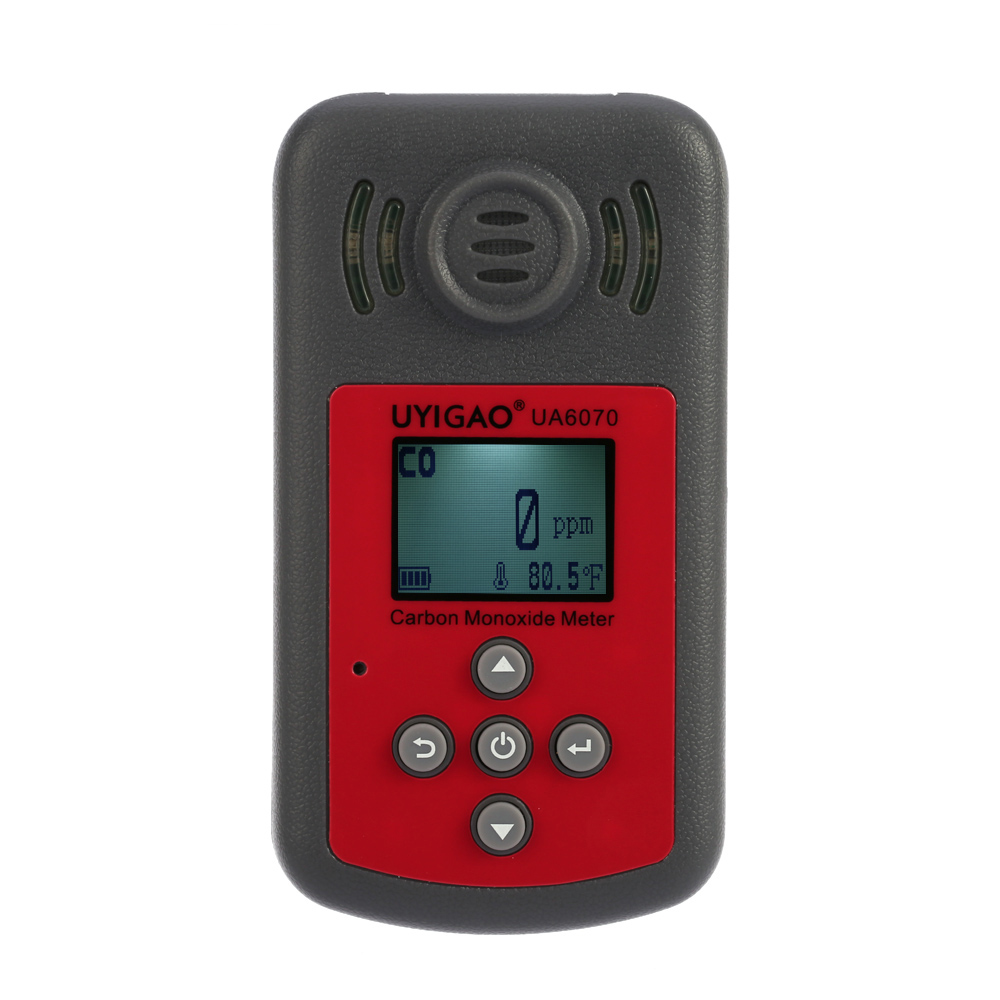 New Handheld Carbon Monoxide Meter High Precision CO Gas Tester Monitor Detector with LCD Sound and Light Alarm 0-2000ppm