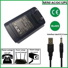 5v 9V 12V Мини DC адаптер бесперебойного UPS обеспечивает Аварийное резервное копирование на камеру видеонаблюдения с батареей встроенный
