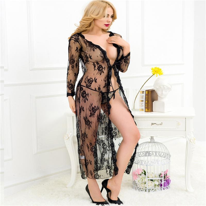 Women Sexy Lingerie Sex Babydolls Chemises Plus Size Lace Sexy Nightgown  Temptation Lingeries Nighty lingerie sexy hot erotic 00fb5a21f0
