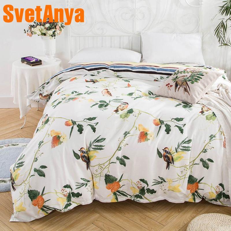 Svetanya цельнокроеное платье пододеяльник на молнии 100% хлопок Стёганое одеяло или кашне или Одеяло случае пастырской печати