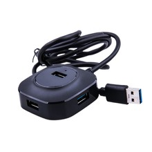 USB 2.0 HUB for PC Computer Laptop Accessories USB Converter to 4 Port USB2.0 Splitter Switch with Micro USB Charging Port