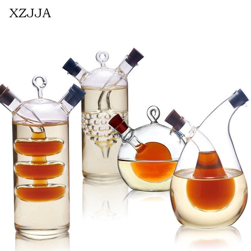Alta Temperatura botella de aceite y vinagre botella galss salsa