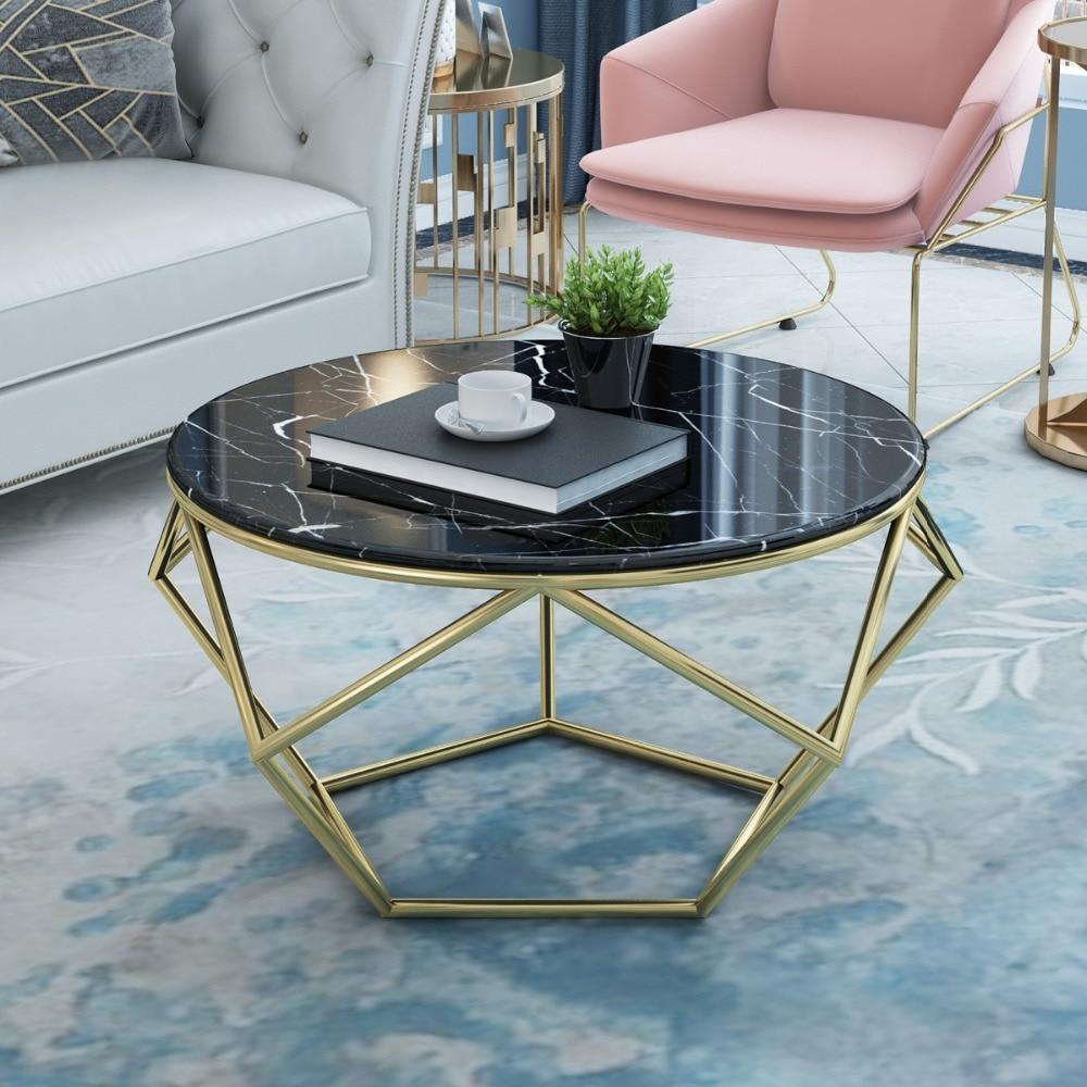 - Luxury Interior Design Round Mirrored Stainless Stainless Coffee