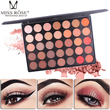 Brand MISS ROSE Professional New 35 Color Eyeshadow Palette Shimmer Matte Beauty Make up Pallete Set Smoky Eye shadow Makeup free shipping miss rose hexagon hand make up case makeup set of matte shimmer eye shadow blush powder eyebrow concealer lipgloss