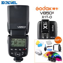 Godox V850II GN60 HSS 2.4 г Беспроводной x Системы Вспышка Speedlite литий-ионная аккумуляторная батарея + X1T-O передатчик для Olympus Fujifilm Lumix