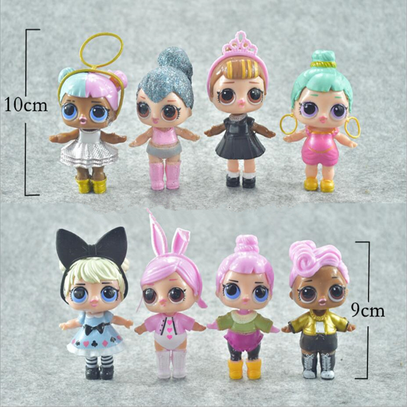 8pcs/lot LoL Unpacking High-quality Dolls Lol Dolls Baby Tear Open Color Change Egg LoL Doll Action Figure Toys Kids Gift