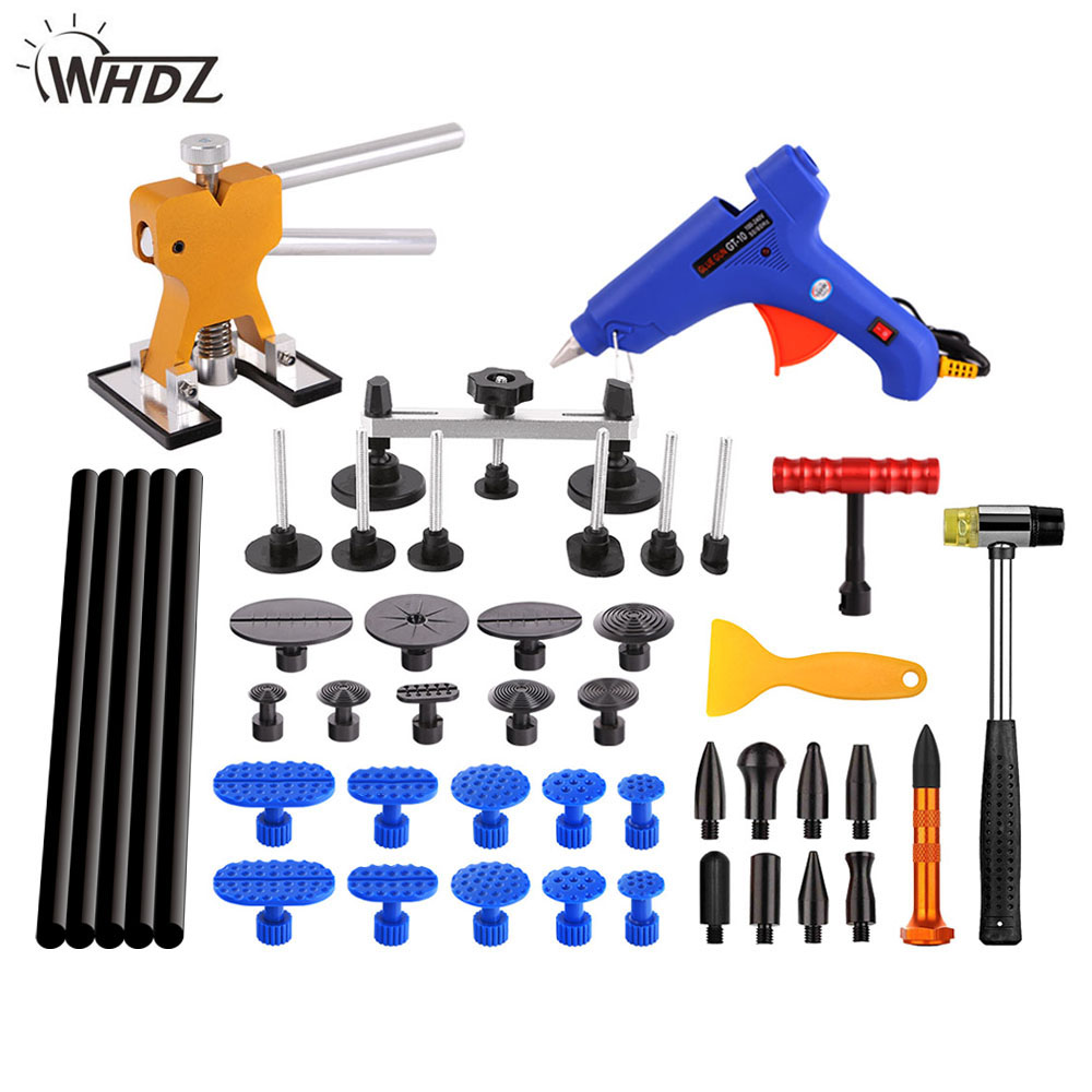 WHDZ PDR Tools Paintless Dent Repair Tools Car Hail Damage Repair Tool Hot Melt Glue Sticks Glue Gun Puller Tabs Kit Ferramentas whdz pdr tools paintless dent repair tools dent removal dent puller pdr glue tabs glue gun hot melt glue sticks