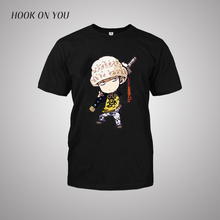 Anime One Piece Trafalgar Law Death Surgeon T-Shirt T Shirt For Men 2017 New Short Sleeve Cotton Casual Top Tee