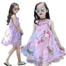 Girls Dresses Summer Kids Lace Dress for Girls Sleeveless Dresses Children Sundress Viole Clothing Infant Vestido Princess Dress kseniya kids 2018 spring summer new children s clothing lace princess mesh lace sleeveless girls dresses for party and wedding