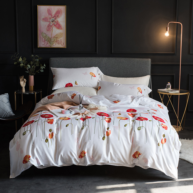 Luxury exquisite Flowers pattern Digital Printing 60S Egyptian cotton Bedding Set Duvet Cover Bed Linen Bed sheet PillowcasesLuxury exquisite Flowers pattern Digital Printing 60S Egyptian cotton Bedding Set Duvet Cover Bed Linen Bed sheet Pillowcases