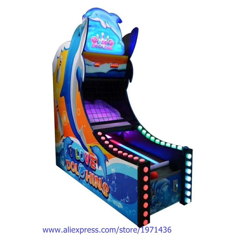 Amusement Equipment Ticket Redemption Games Token Coin Operated Arcade Bowling Game Machine
