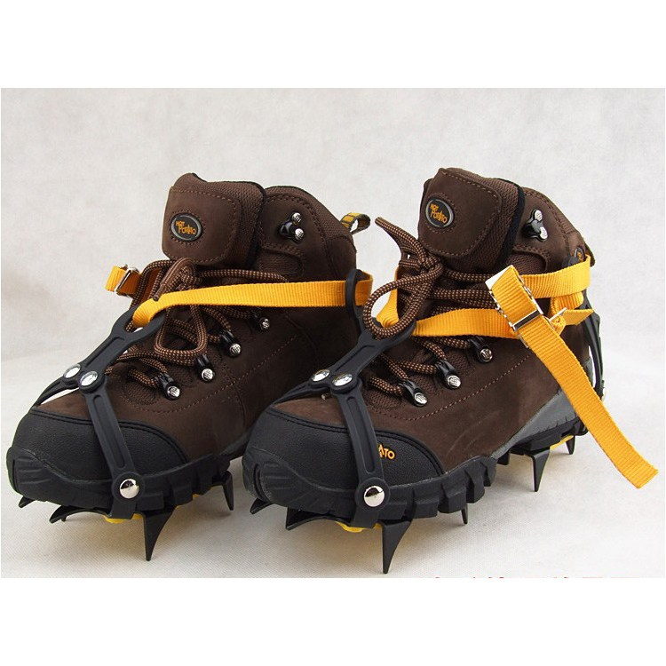 New arrival 1 Pair 10 Teeth Ice Crampon Adjustable Anti-Slip Gripper Cleats Shoes Crampons Chain Spike Snow for Hiking Climbing 1 pair ice gripper slipproof strong ice crampons skiing crampons shoes snow walker for snow mountain climbing walking bag
