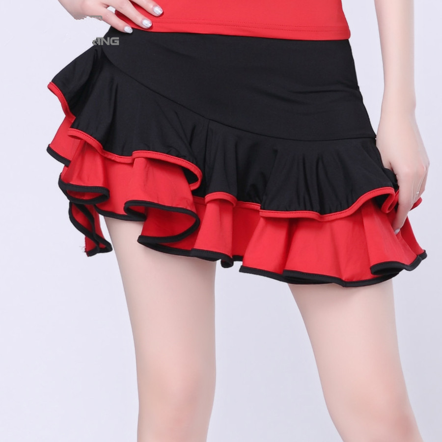 2019 New Lady Latin Dance Skirt 3 Color Styles Latin Dance Dress Competition/Practice Dancewear