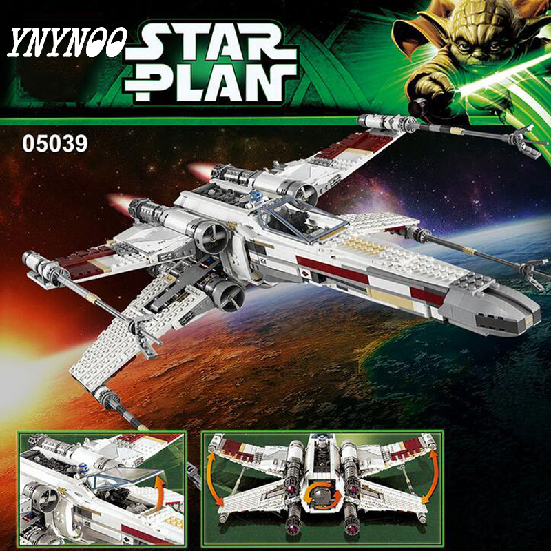 (YNYNOO) 05039 StarWars Series The Red five X-Wing starfighter Model Building Blocks Classic Compatible 10240 Toys for children modified full system motorcycle exhaust mid link front pipe motorbike laser marking muffler for honda cbf190 cbf190r cb190r