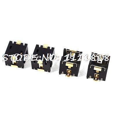 4PCS Plastic Shell AG13/LR44 Button Cell Battery Socket Holder Case Black