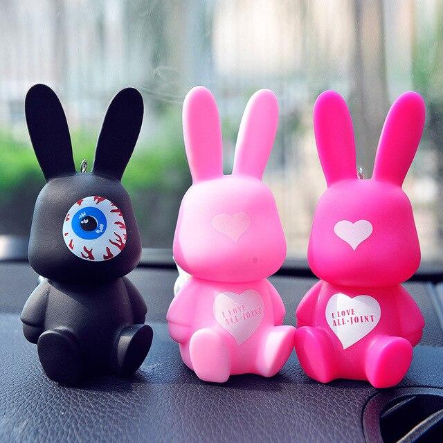 JOORMOM Baby Rabit car air-conditioning outlet perfume CLIP car perfume car decorations rhinestone pink car accessories