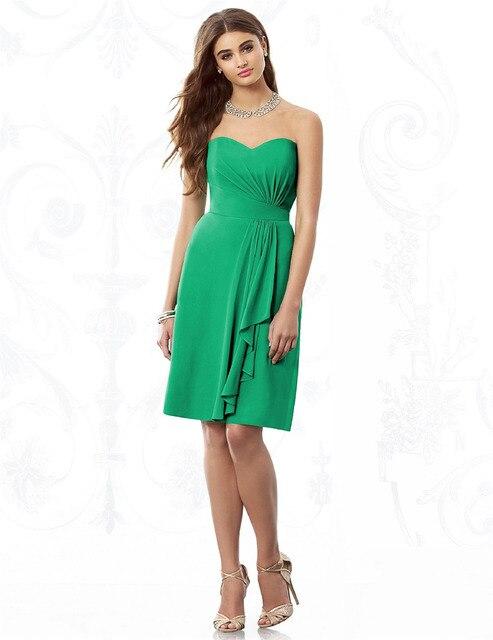 Vestidos de fiesta verde corto