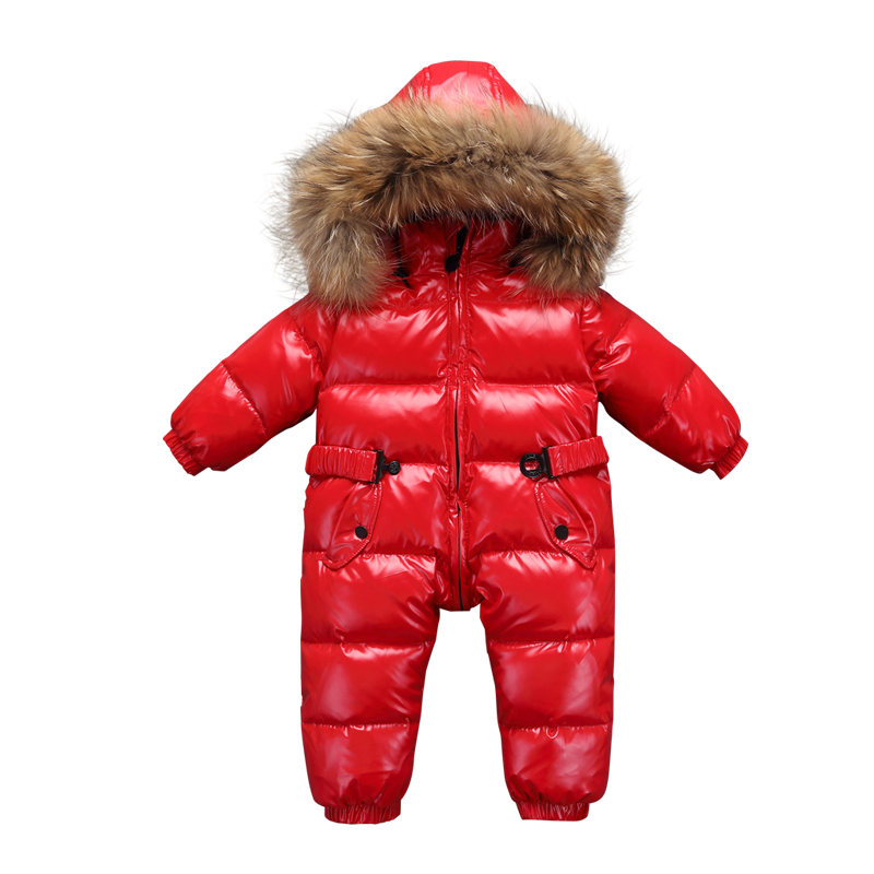 Newborn Baby Winter Coat Outerwear Fashion Hooded Parkas 90% White Duck Down Jumpsuit Large Fur Rompers Infant Clothing Snowsuit платье для девочек jilly 2015 colthes baby j 184568 page 1