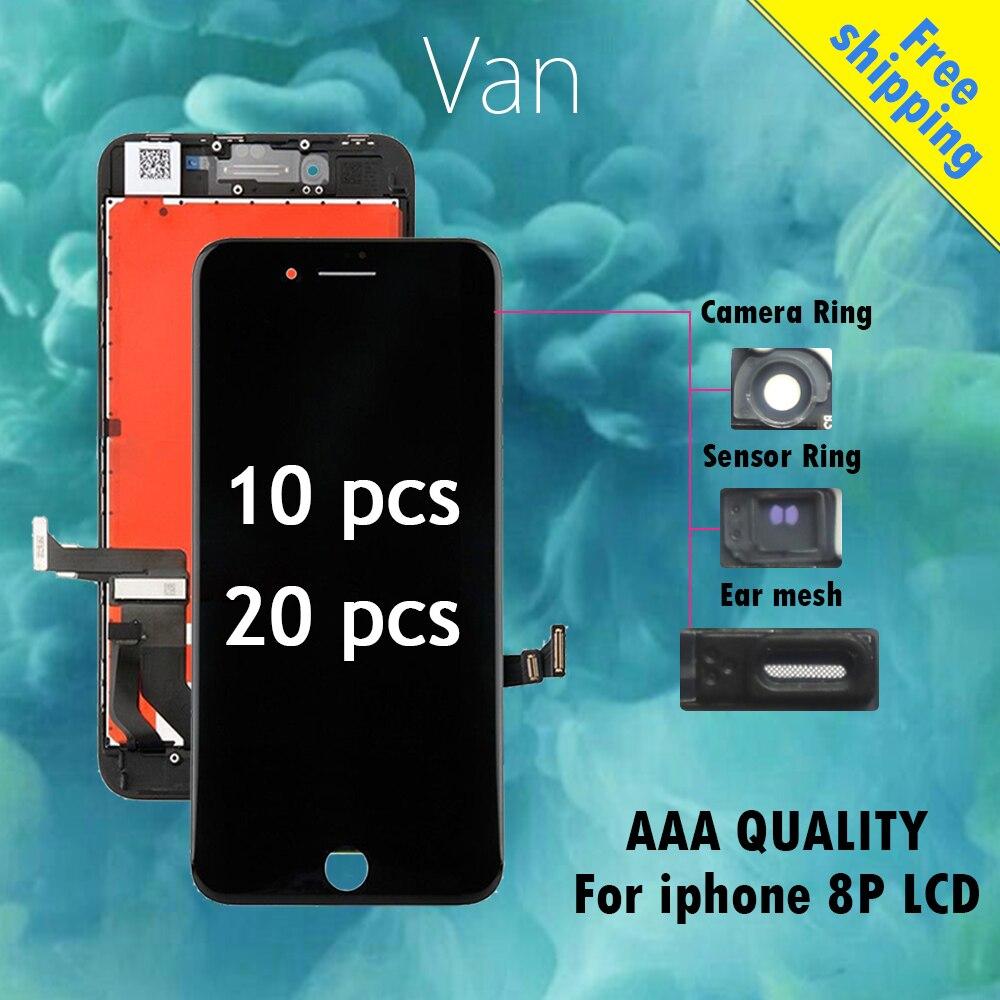 10 20 pcs Tianma Aucun Pixel Mort pour l'iphone 8 Plus ecran LCD de Remplacement avec 3D Tactile Digitizer Assemblée remplacer L'écran