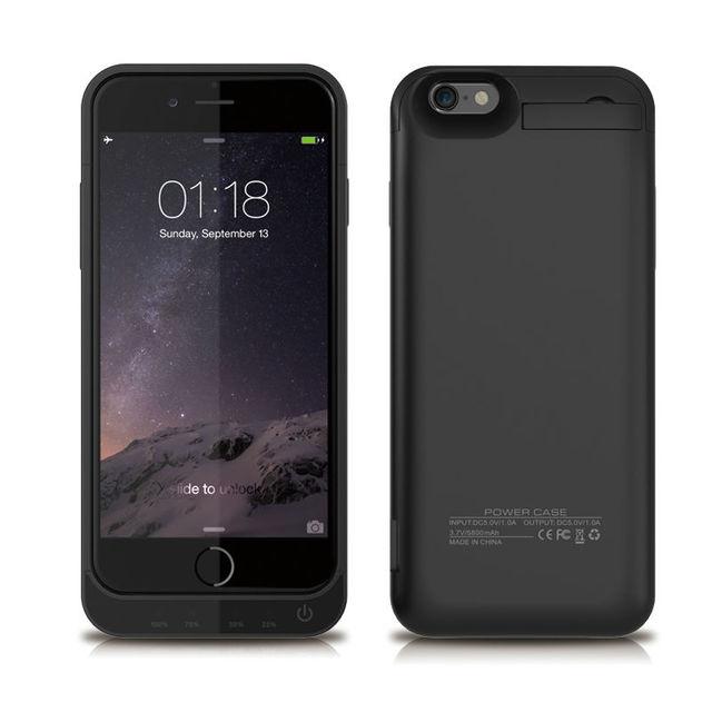 5800 mAh Caso De Alimentação Para iPhone6 6 s Caso Carga de Energia de Backup Externo tampa do banco do poder de bateria para iphone 5s 6 6 s carregador 7 casos