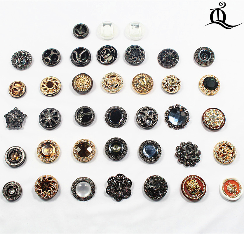 Mix Size 1pcs Pearl Acrylic Metal Diamonds Clothing Accessories Overcoat Jacket Coat Brand Metal Buttons Sweater Shirt Button,t7