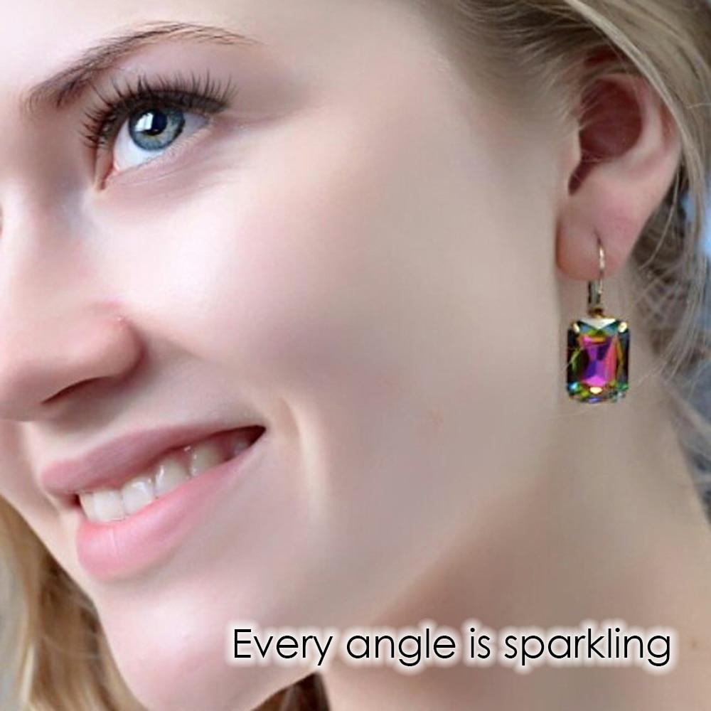 eManco Fashion Costume Smykker Øreringe til kvinder 19 farver - Mode smykker - Foto 3