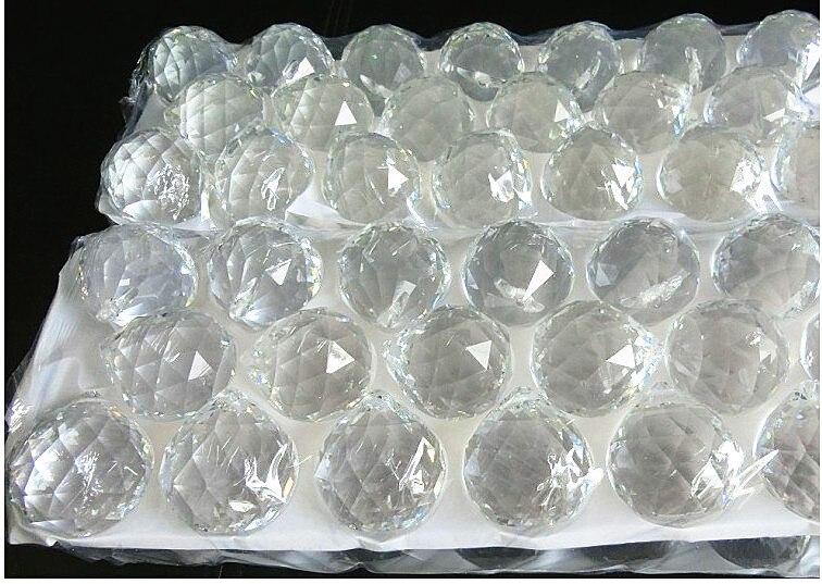 Livraison gratuite 1 pcs/Lot 100 MM boule à facettes suspendue en cristal pour cadeau de décoration de mariage - 5