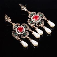 Турецкие серьги для женщин винтажные золотые ювелирные изделия