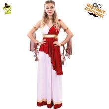 6b59a8b8ec Nowy projekt kobiety s Deluxe greckiej bogini kostiumy dla dorosłych kobiet  Carnival Party elegancki grecka królowa i księżniczk.