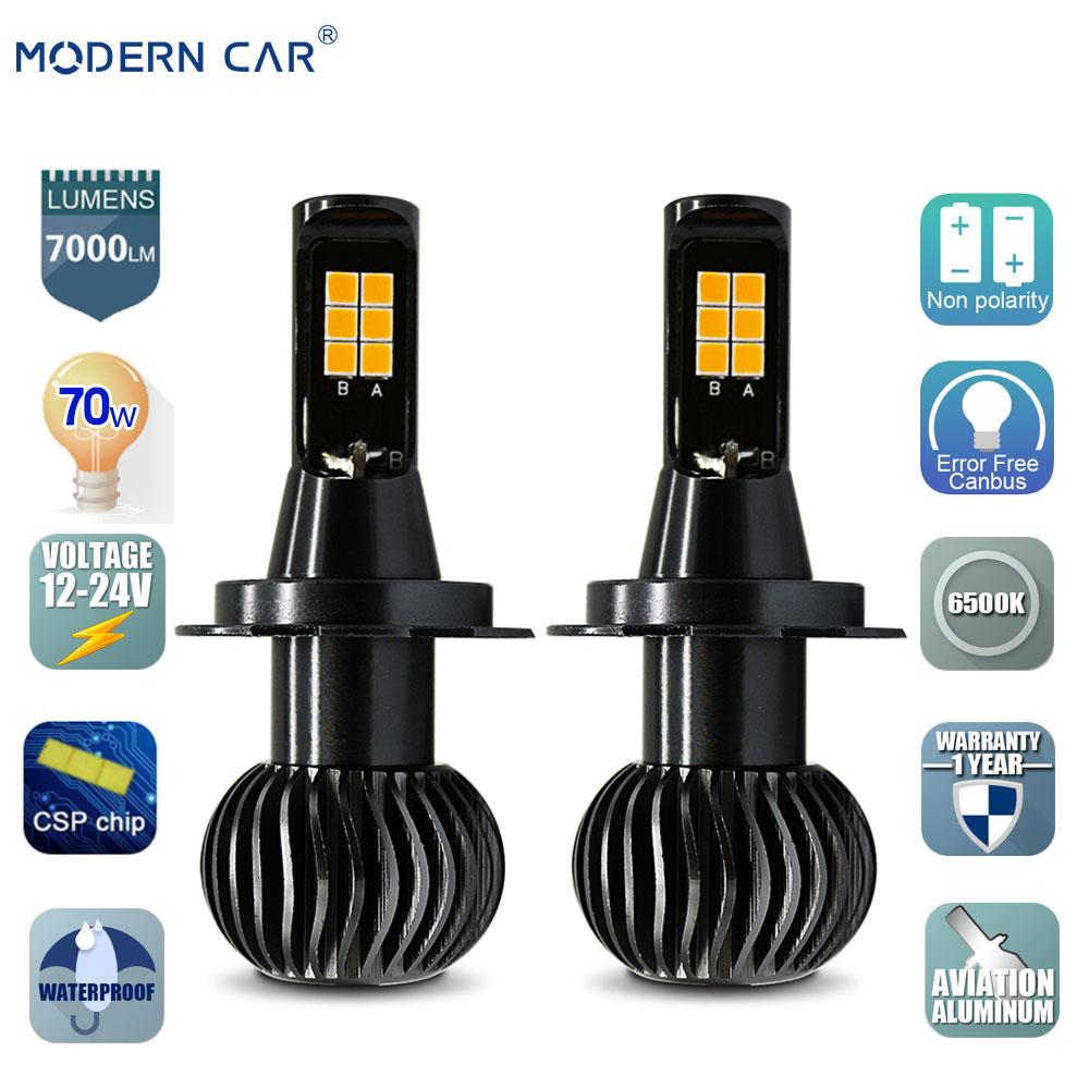Modern Car 70w Fog Light Bulb Dual Color White/yellow H11 H4 H7 H1 H3 880 9005 9006 Auto Led Headlights Front Fog Lamp Bulbs 12v Automobiles & Motorcycles