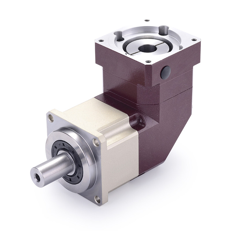 6 arcmin right angle 90 degree helical gear planetary reducer gearbox 3:1 to 10:1 for 60mm 400w AC servo motor input shaft 14mm